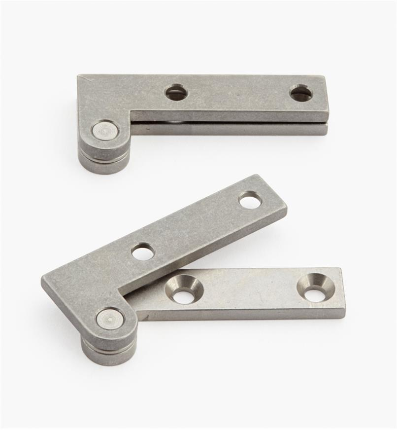 "05H0155 - 5/8"" x 1 1/2"" x 3/32"", Stainless Steel Double-Offset Knife Hinges, pair"