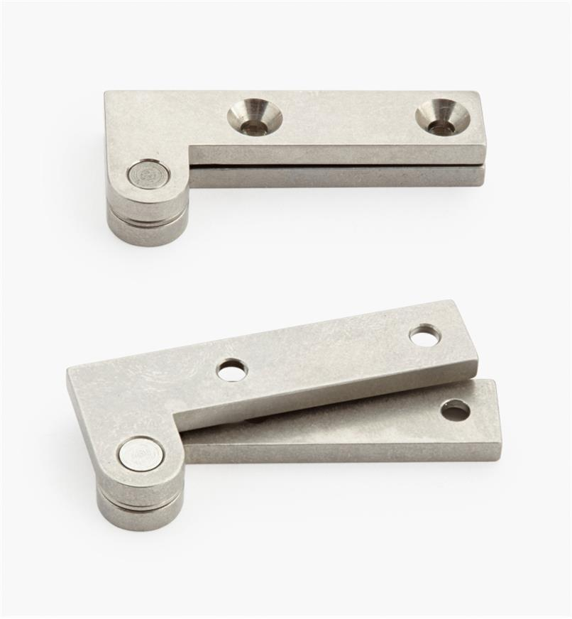 "05H0156 - 3/4"" x 1 3/4"" x 1/8"", Stainless Steel Double-Offset Knife Hinges, pair"