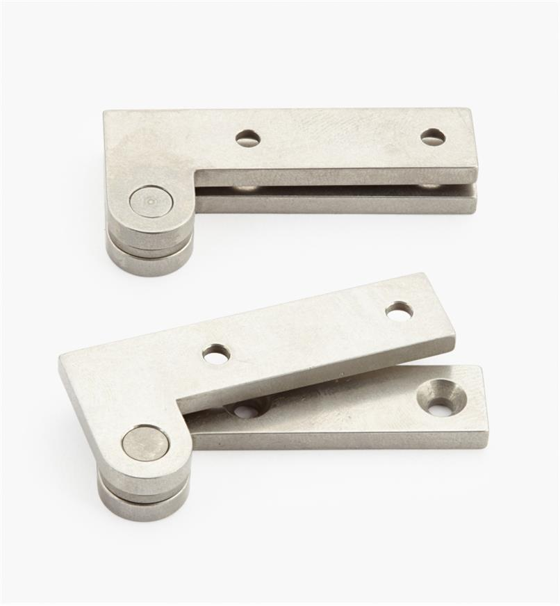 "05H0157 - 7/8"" x 1 7/8"" x 1/8"", Stainless Steel Double-Offset Knife Hinges, pair"