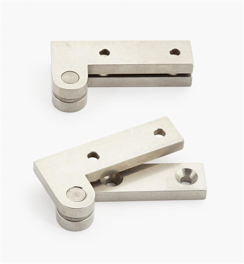 "05H0158 - 1"" x 2"" x 3/16"", Stainless Steel Double-Offset Knife Hinges, pair"