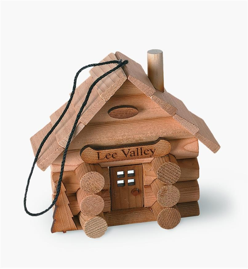 Log Cabin Ornament Kit assembled