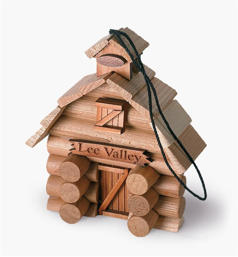 Log Barn Ornament Kit assembled