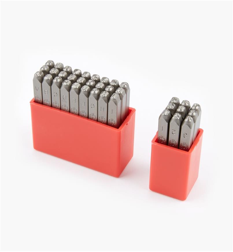 92W6820 - Poinçons pour lettres et chiffres de 3mm