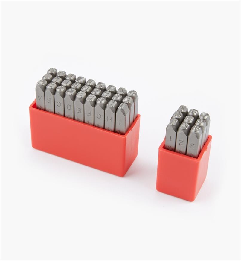 92W6825 - Poinçons pour lettres et chiffres de 5mm