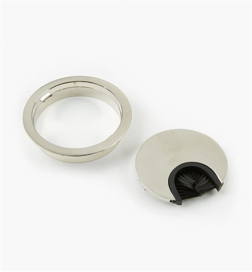 00U1150 - Passe-câble circulaire en métal, diamètre de 60mm