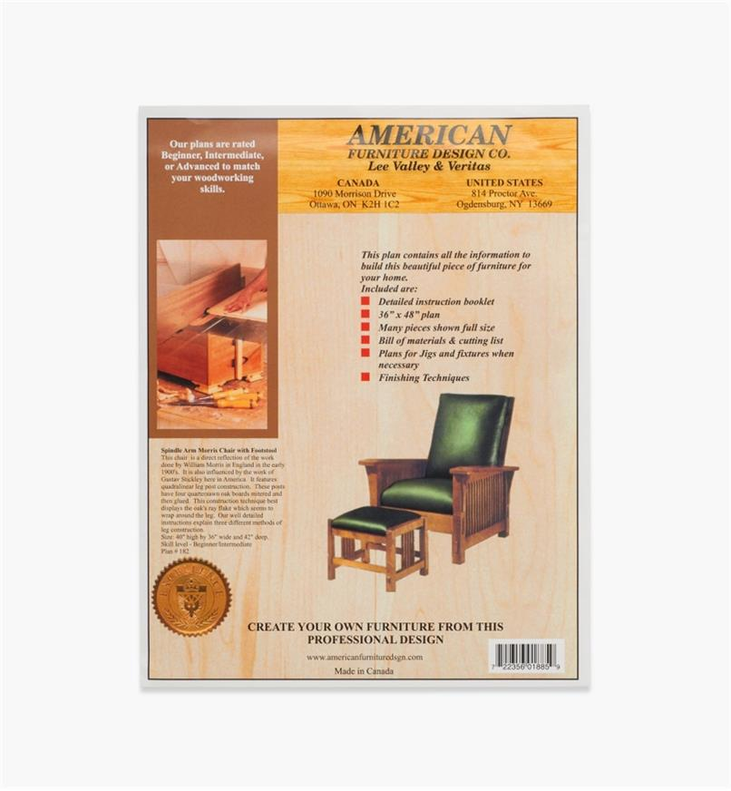 01L5013 - Spindle Arm Morris Chair & Footstool Plan