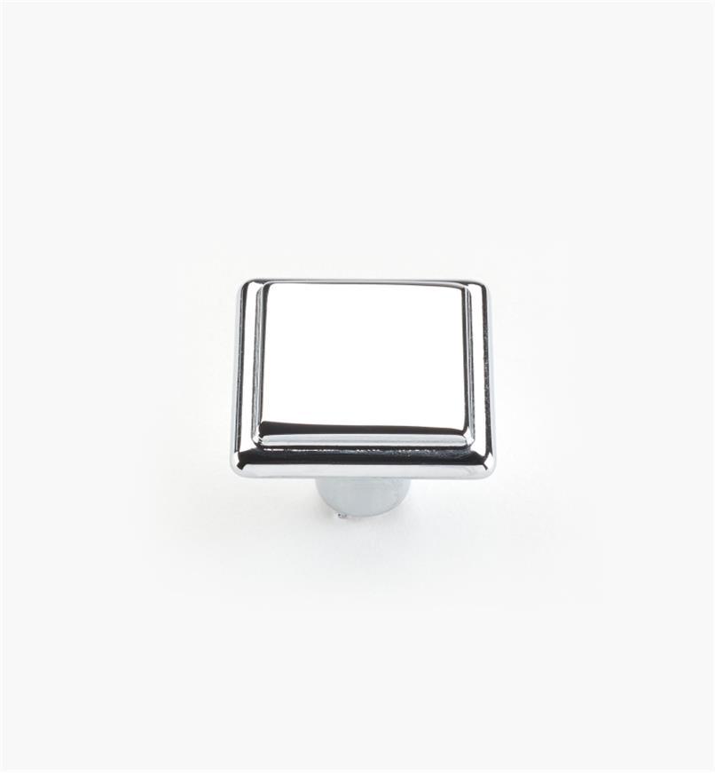 00A7030 - Bouton de 26mm x 20mm, série Alfonso, fini chrome poli