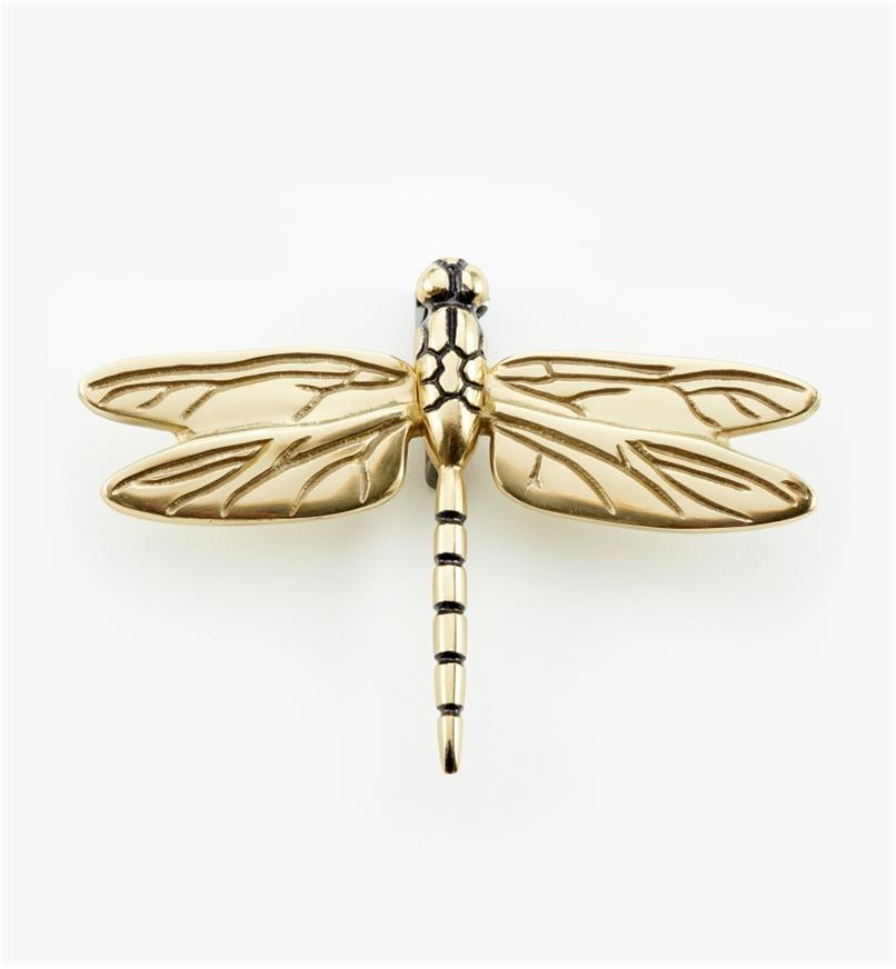 00W0812 - Polished Brass Dragonfly Door Knocker