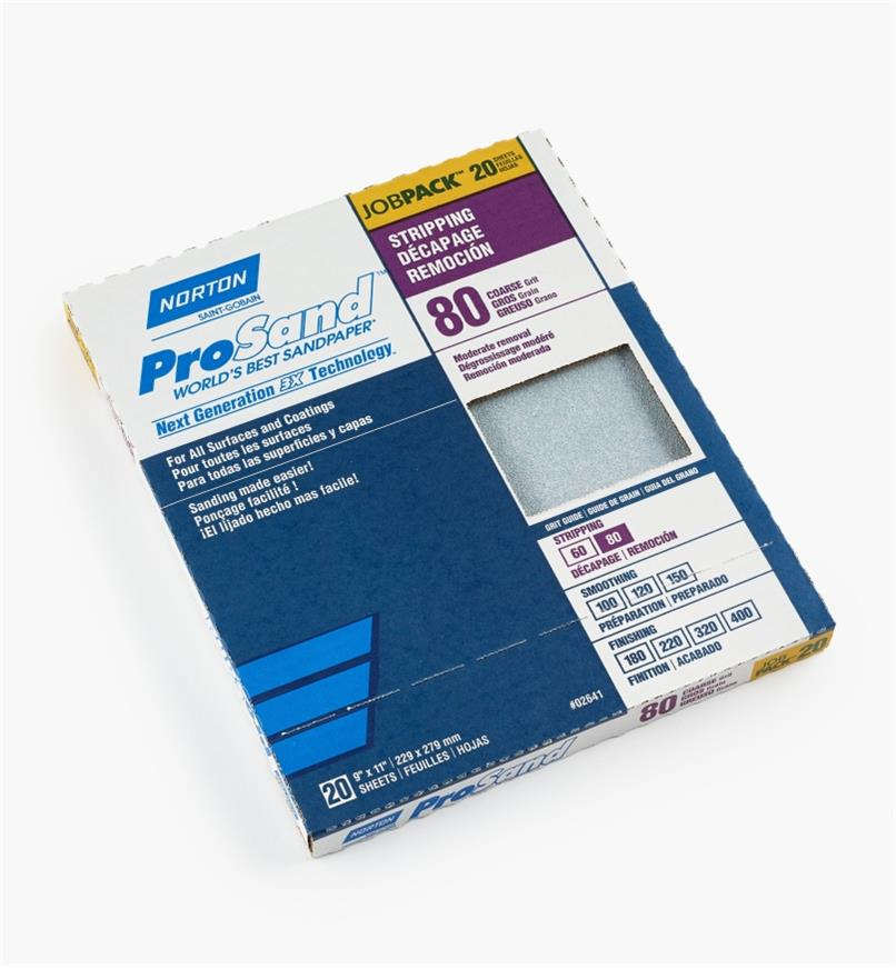 54K8542 - 3X Sandpaper 80x, box of 20