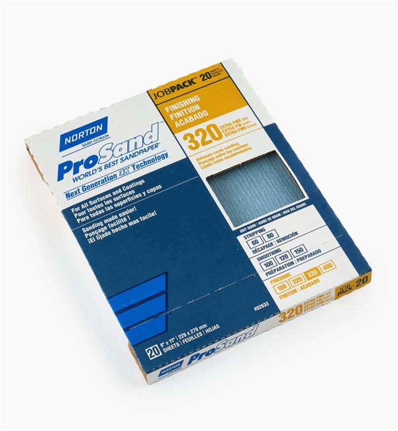 54K8548 - 3X Sandpaper 320x, box of 20