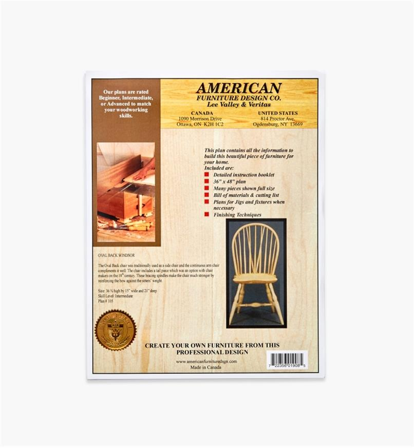01L5042 - Oval Back Windsor Chair Plan