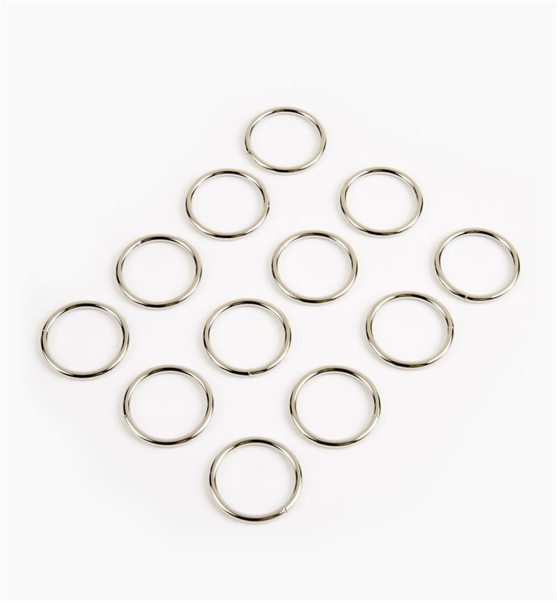 """09A0882 - 1"""" Rings, pkg. of 12"""