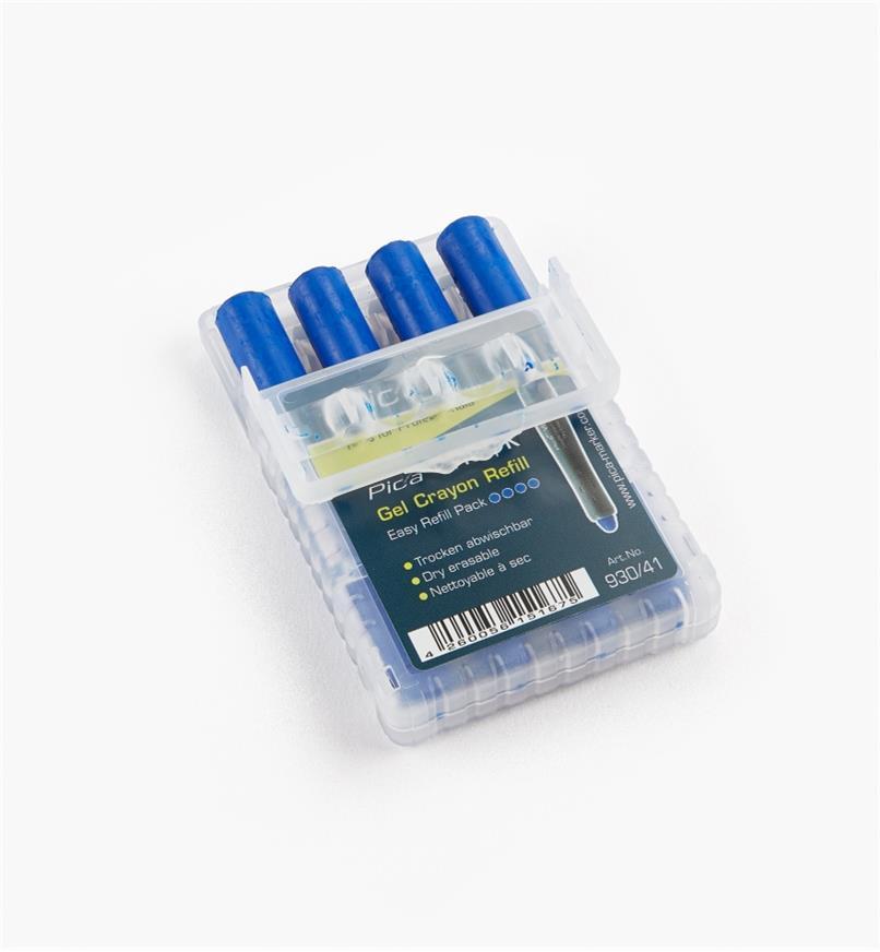25K0479 - Mines de remplacement Pica-Visor, bleu, le paquet de 4