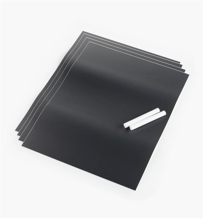 "88K9620 - 9"" x 12"" Peel-and-Stick Chalkboard Sheets, pkg. of 4"