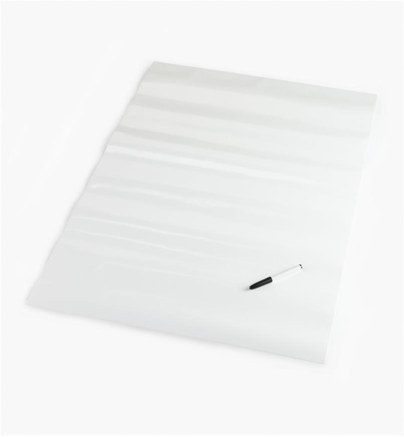 88K9623 - Tableau autocollant pour marqueurs effaçables à sec, 25po x 38po, l'unité