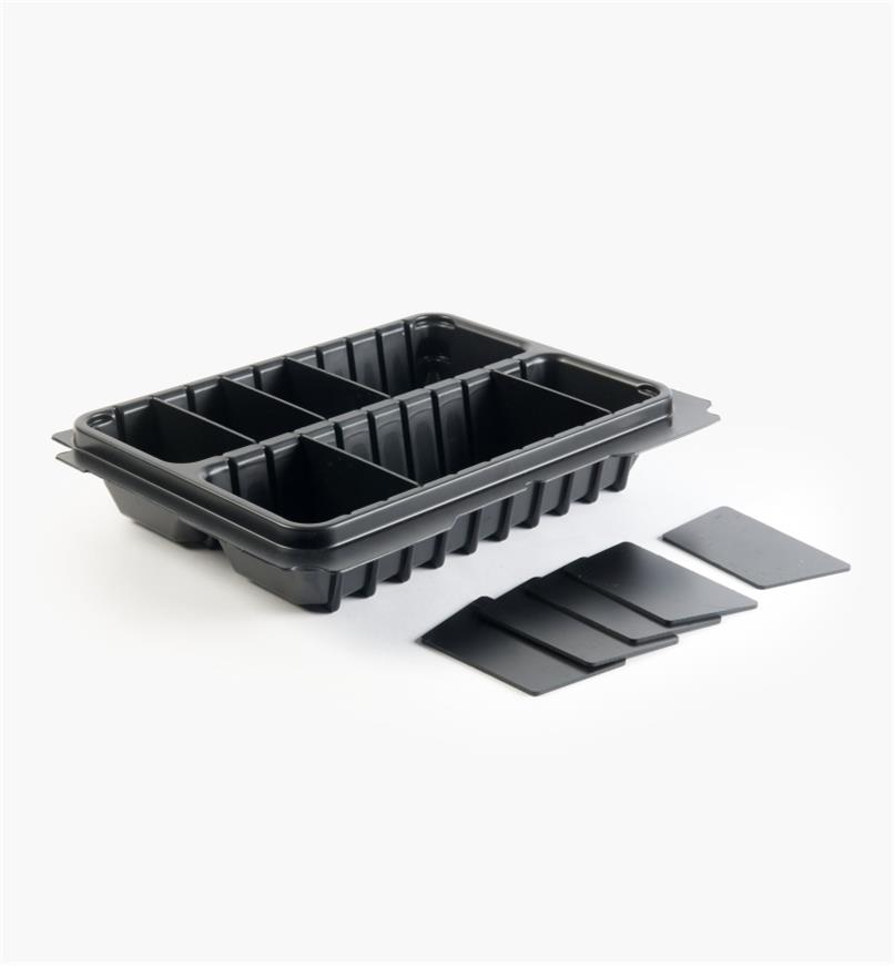 68K4555 - T-Loc Systainer 2-Compartment Tray with Dividers, 80mm