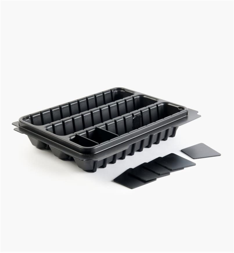 68K4557 - T-Loc Systainer 3-Compartment Tray with Dividers, 80mm
