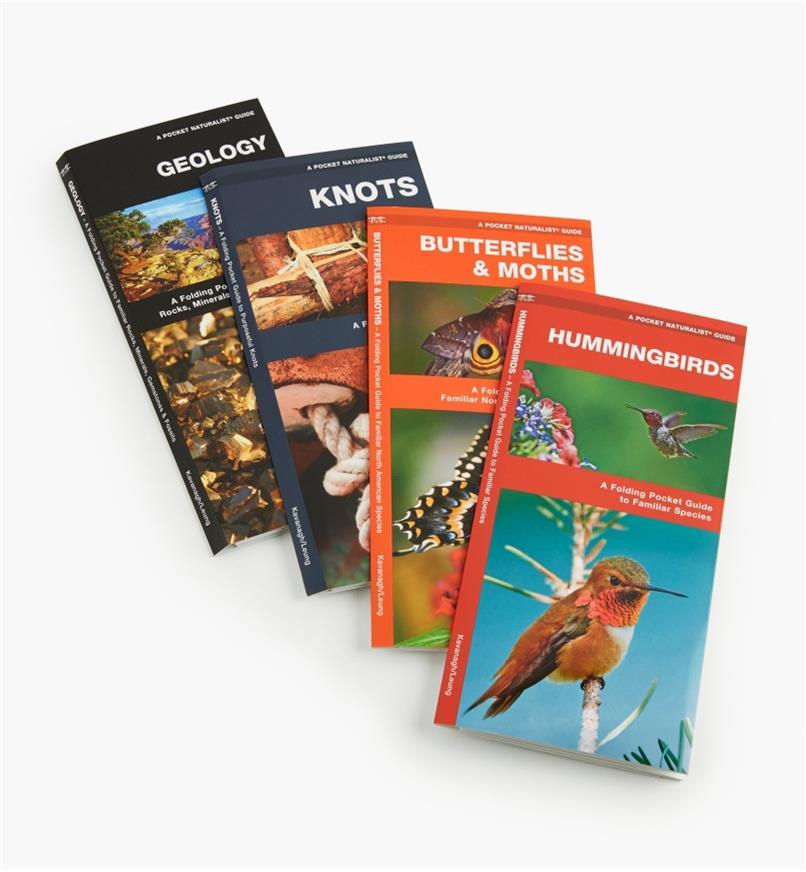 LA266 - Set of Four Pocket Guides(Hummingbirds, Butterflies & Moths, Knots, Geology)