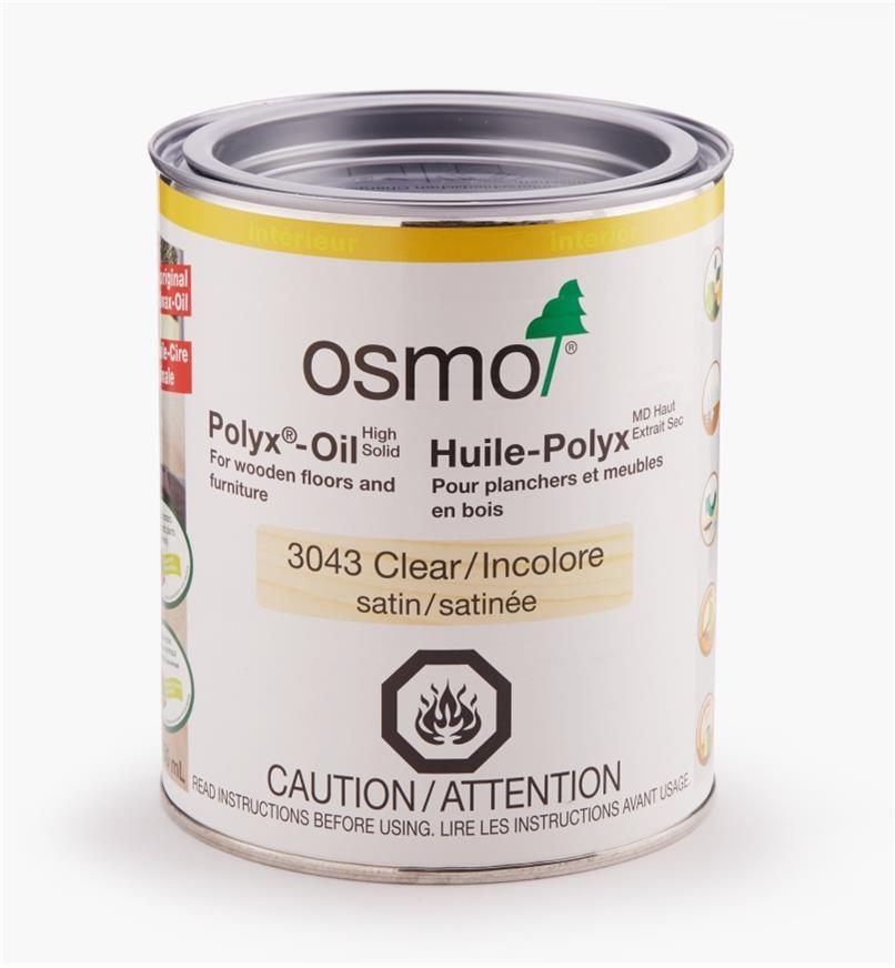 27K2725 - Osmo Polyx 3043 Satin, 750ml (25.5 fl oz)