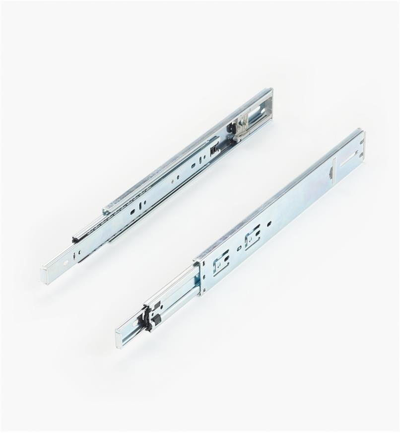 02K3814 - Coulisses à extension complète à fermeture automatique de 14po, la paire
