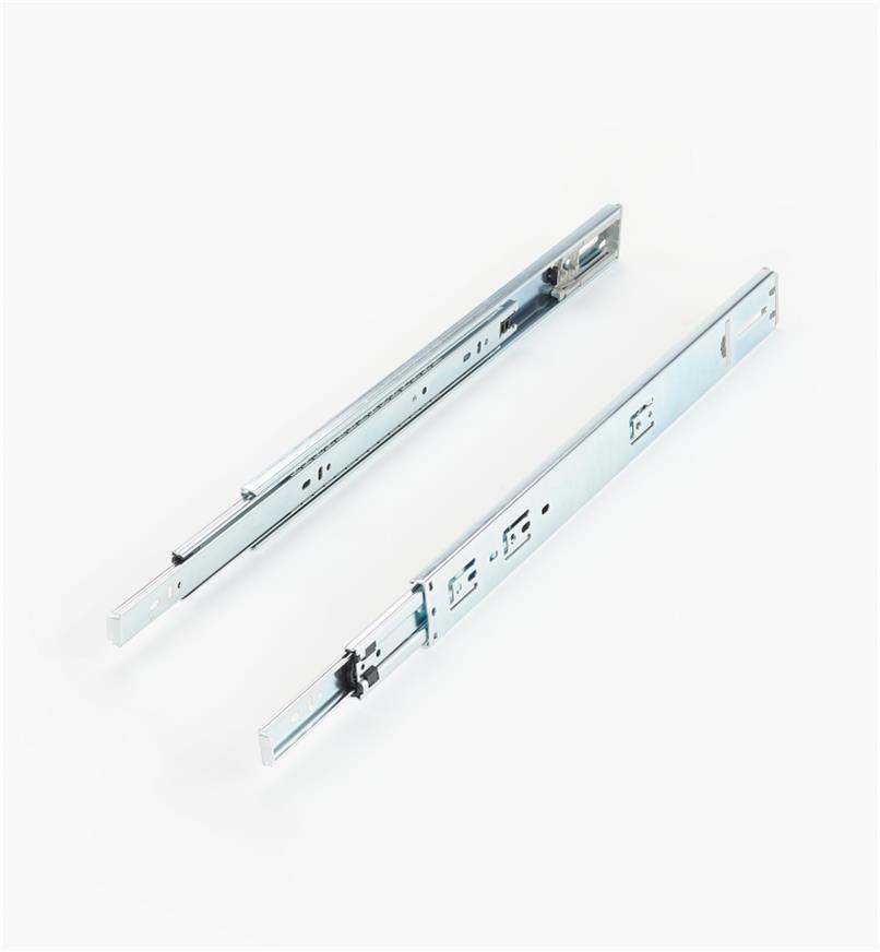 02K3818 - Coulisses à extension complète à fermeture automatique de 18po, la paire