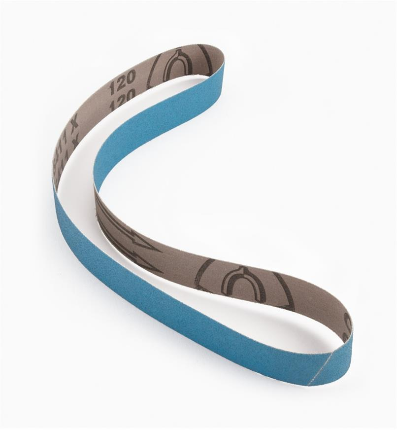 "68Z23012 - 1"" x 30""120x Blue Zirconia Sharpening Belt"