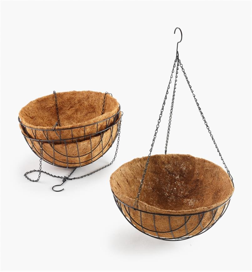 "XB608 - 18"" Hanging Baskets, set of 3"