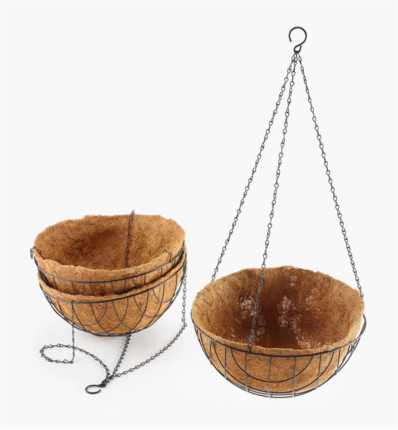 "XB616 - 14"" Hanging Baskets, set of 3"