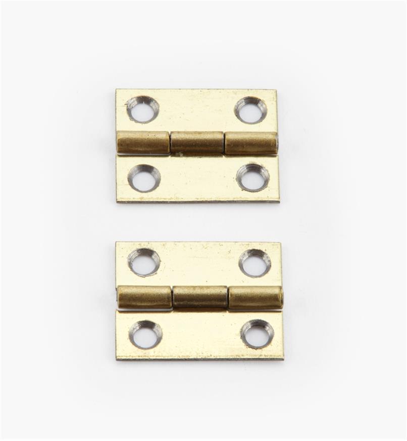 00D3005 - 15mm x 12mmSmall Box Hinges, pr.