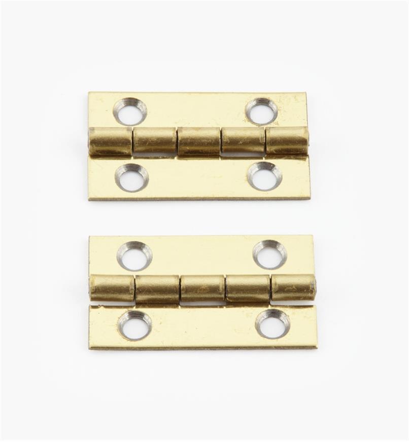 00D3008 - 25mm x 15mmSmall Box Hinges, pr.