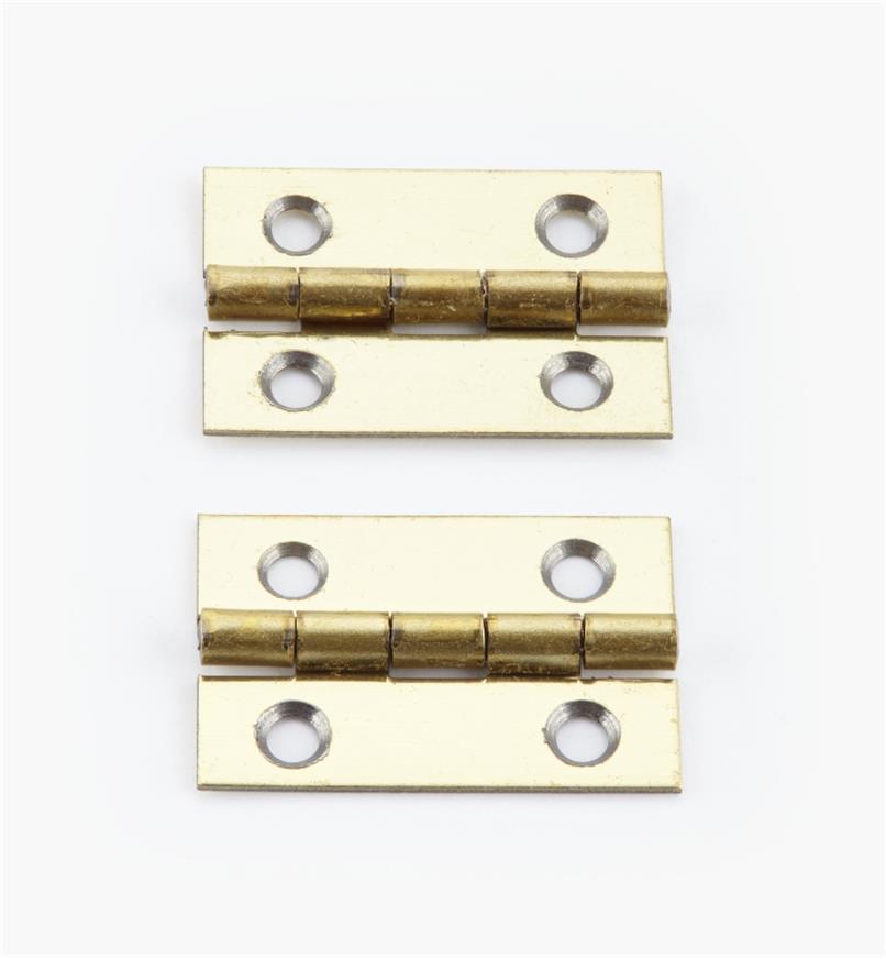 00D3012 - 25mm x 17mmSmall Box Hinges, pr.