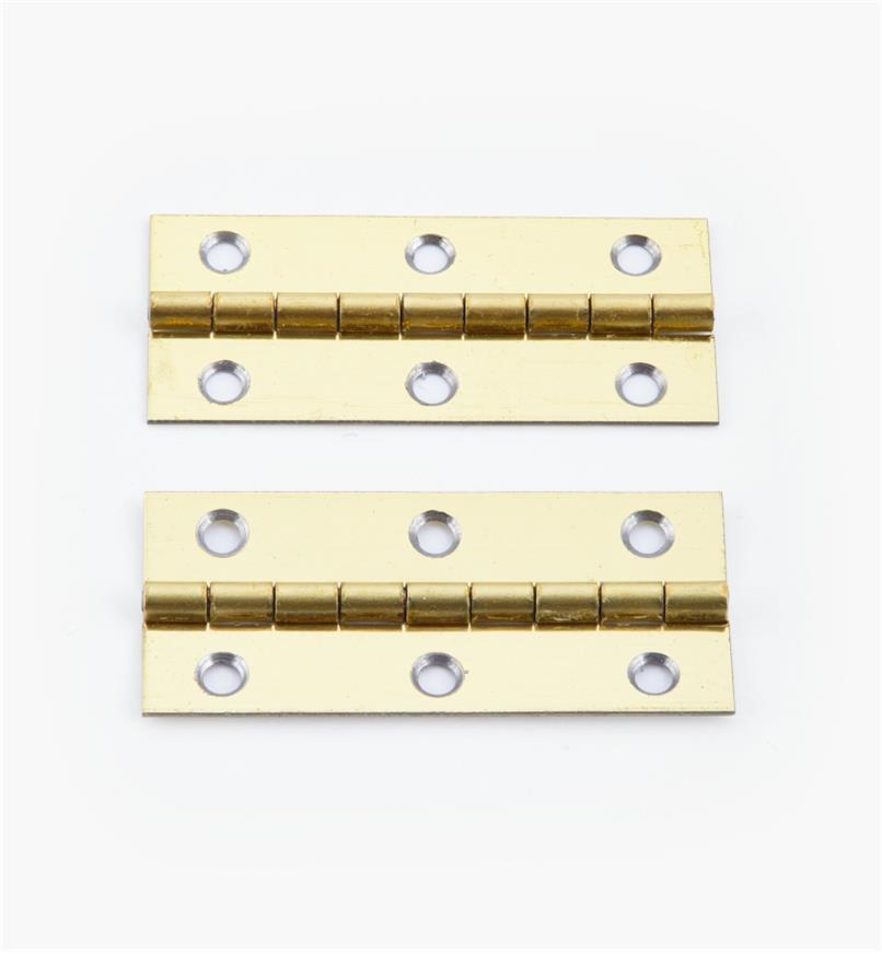 00D3014 - 45mm x 20mmSmall Box Hinges, pr.