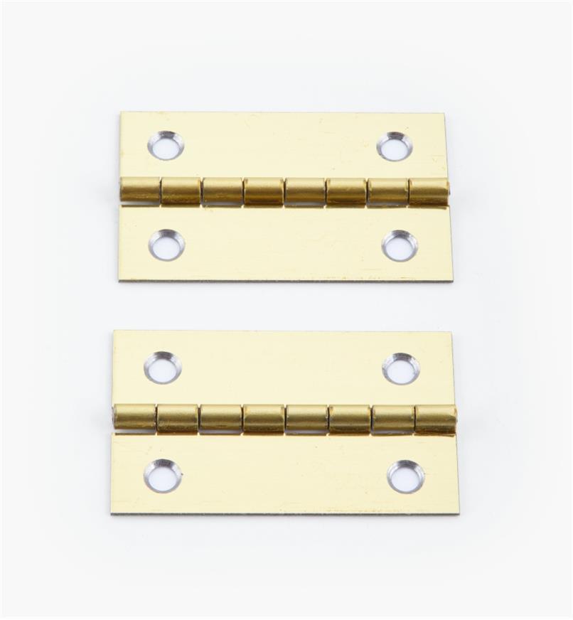 00D3022 - 40mm x 25mmSmall Box Hinges, pr.
