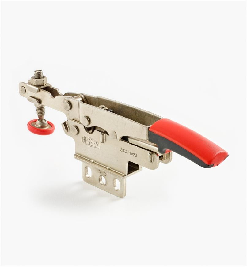 17F7216 - Small Bessey Center-Flange Mount Horizontal Auto-Adjust Toggle Clamp, each