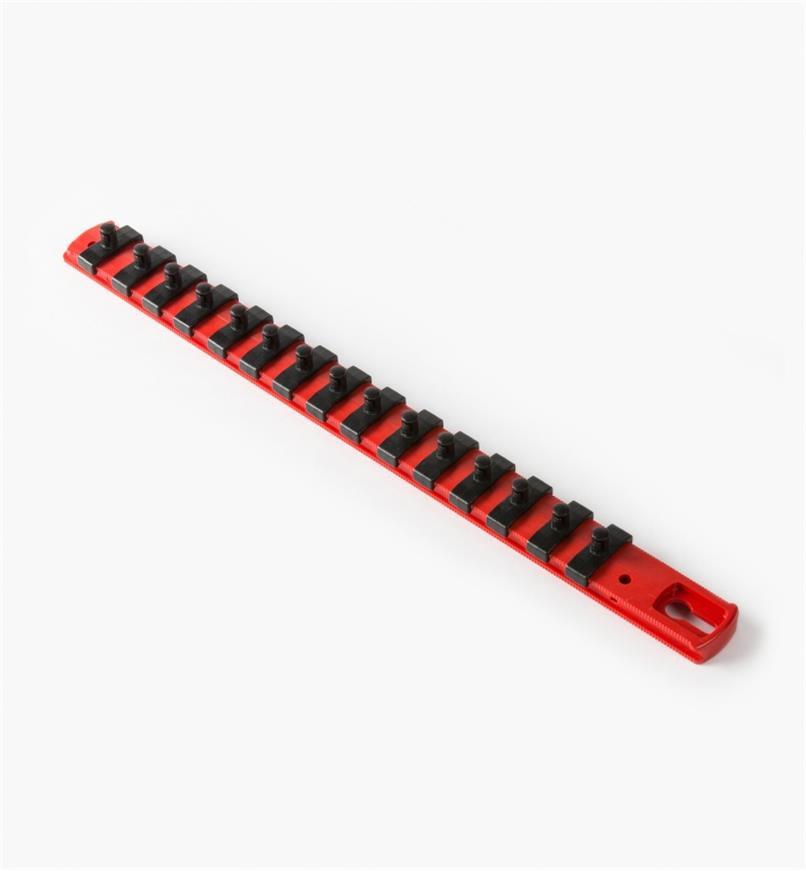 """27K8046 - 1/4"""" Drive Socket Organizer (13"""" Rail, 15 pegs)"""