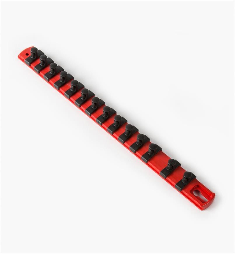 """27K8047 - 3/8"""" Drive Socket Organizer (13"""" Rail, 14 pegs)"""