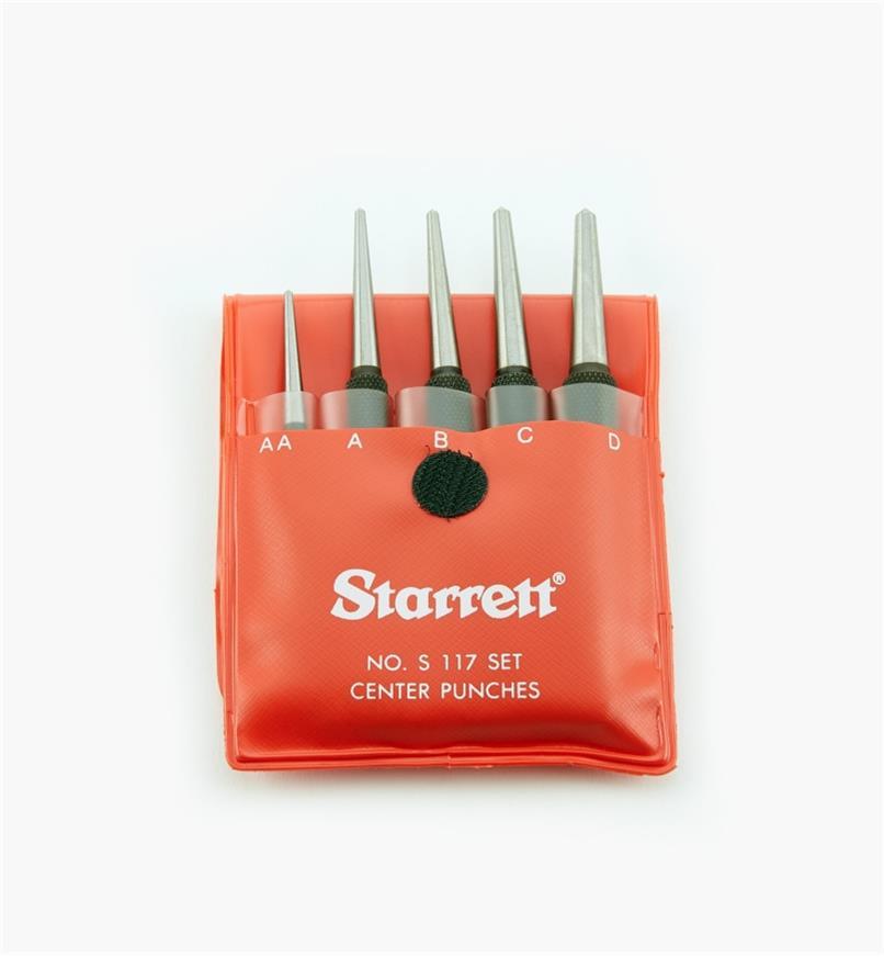 30N2750 - Pointeaux à tige ronde Starrett, le jeu de5