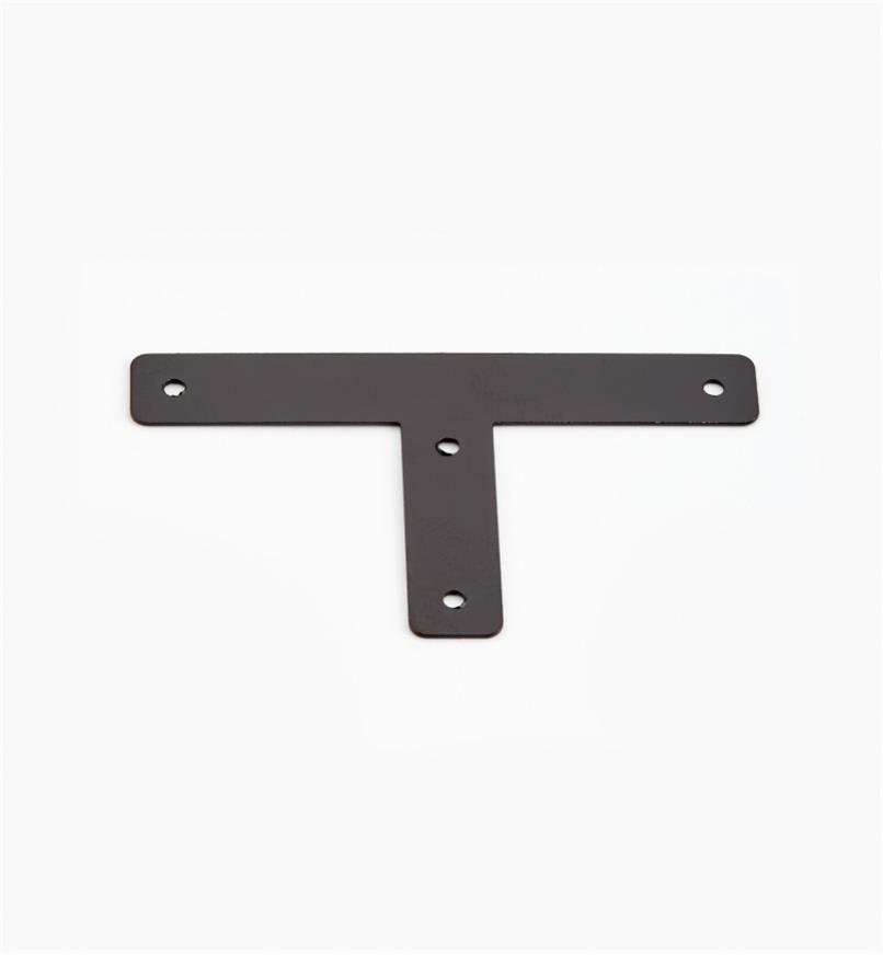 00D5502 - Plaques en « T » de 56 mm x 32 mm (8 mm), quincaillerie Tansu unie, le paquet de 12