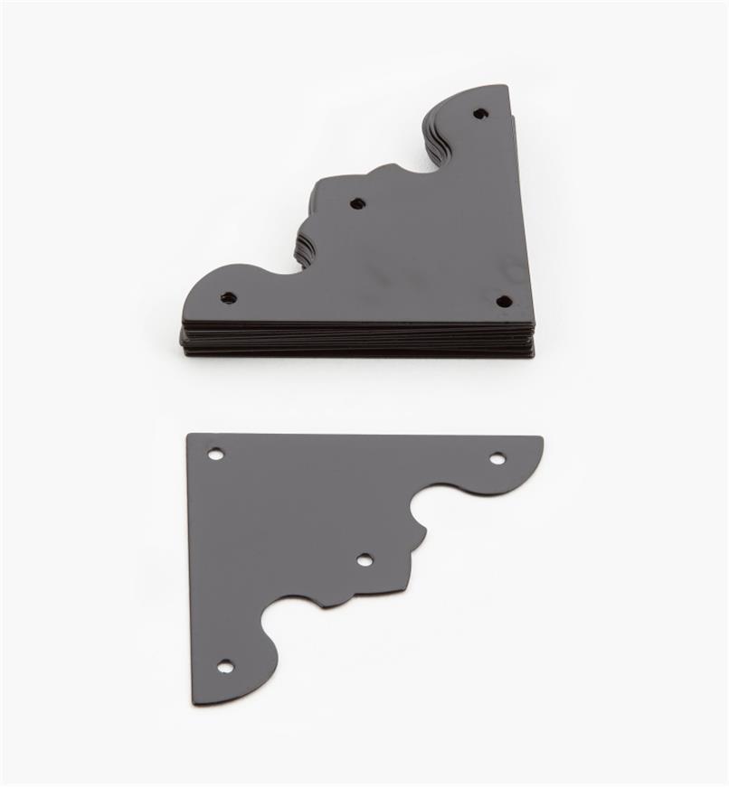 00D5512 - Plaques de coin de 41 mm, quincaillerie Tansu pour coffrets, le paquet de 12