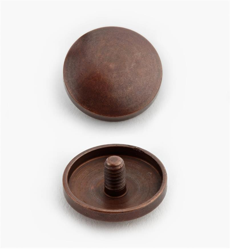 00K4202 - Cache-vis, fini bronze antique, 15 mm, le paquet de 24