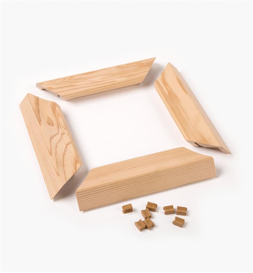 """01S1814 - 4x4 (3 1/2"""" Sq.) Titan Wooden Post Skirt, Cedar"""