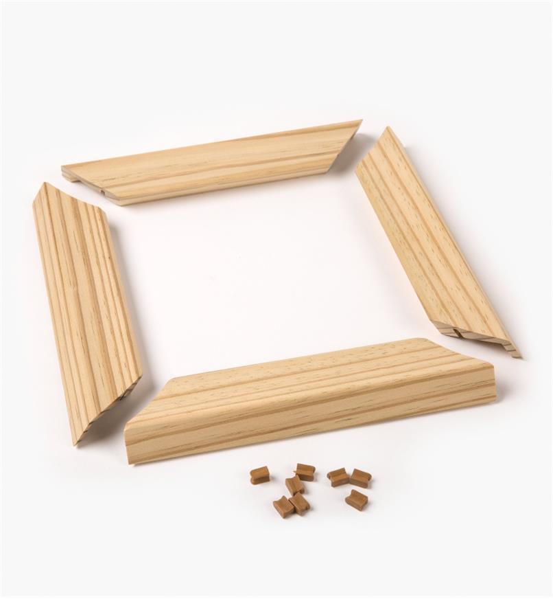 "01S1817 - 6x6 (5 1/2"" Sq.) Titan Wooden Post Skirt, Pine"