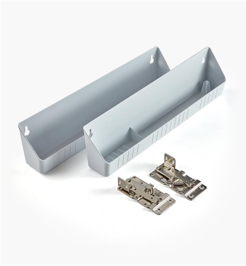 12K7601 - Set of 2 Trays + 1 pr. Hinges