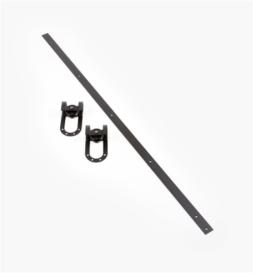 00B1050 - Horseshoe Barn-Style Door Hardware