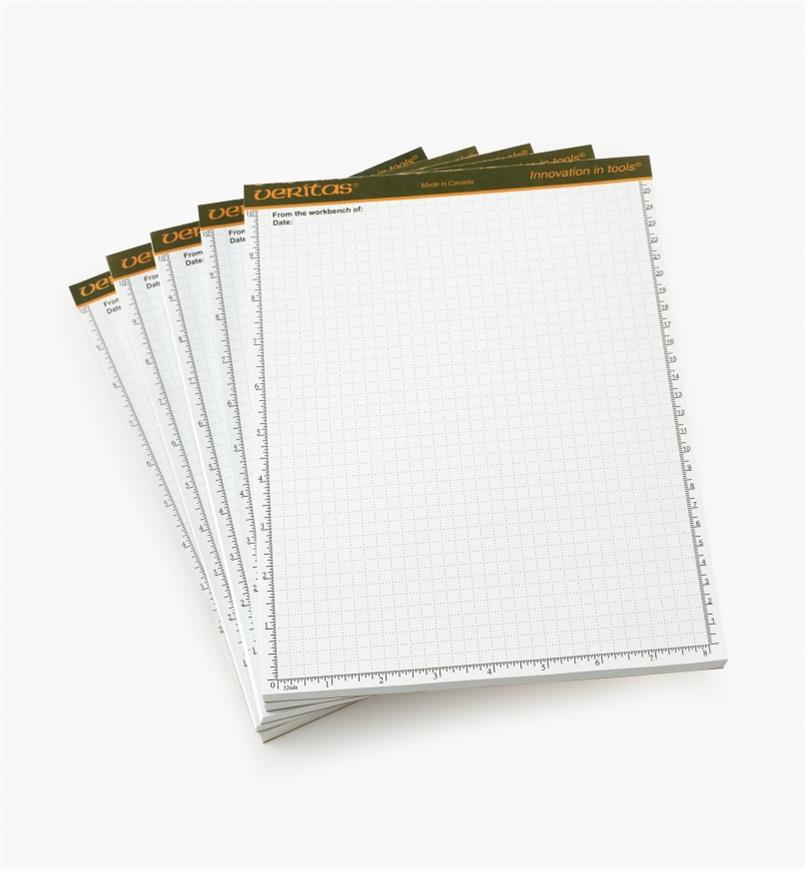 "05L2105 - Veritas 8 1/2"" x 11"" 96-sheet Scratch Pads, pkg of 5"