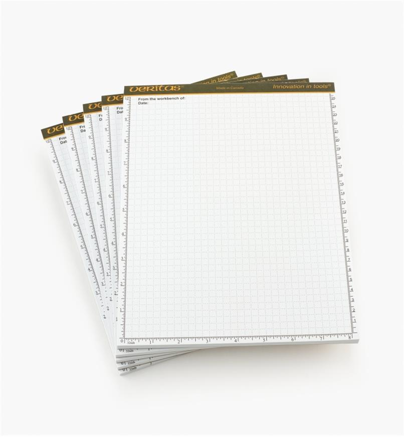 "05L2115 - Veritas 8 1/2"" × 11"" 48-sheet Scratch Pads, pkg. of 5"