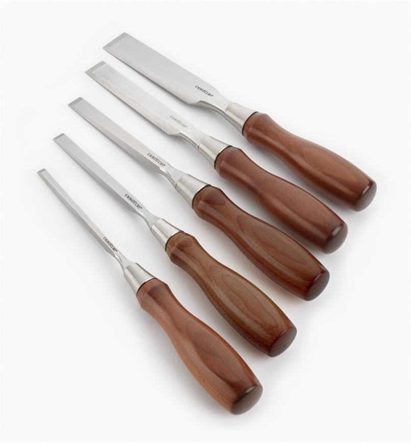 05S2050 - Set of all 5 Veritas O1 Bench Chisels