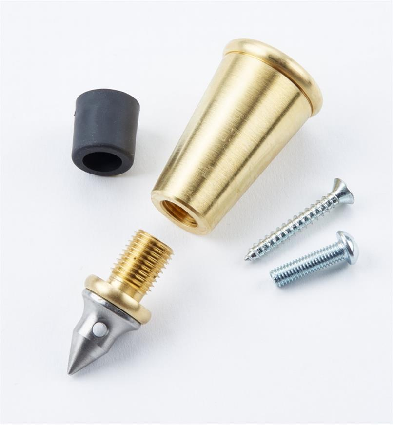 05E0701 - Embout en laiton Veritas pour canne ou bâton de 13/4pox1po, l'unité