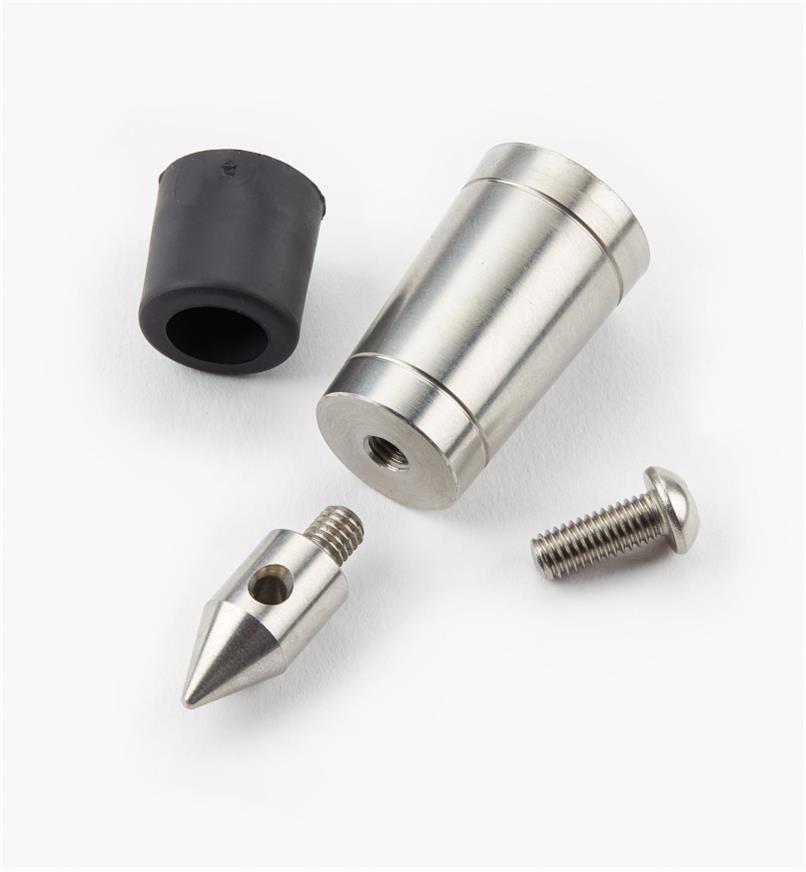 05K9932 - Embout en acier inoxydable Veritas pour canne ou bâton de 11/4pox3/4po, l'unité