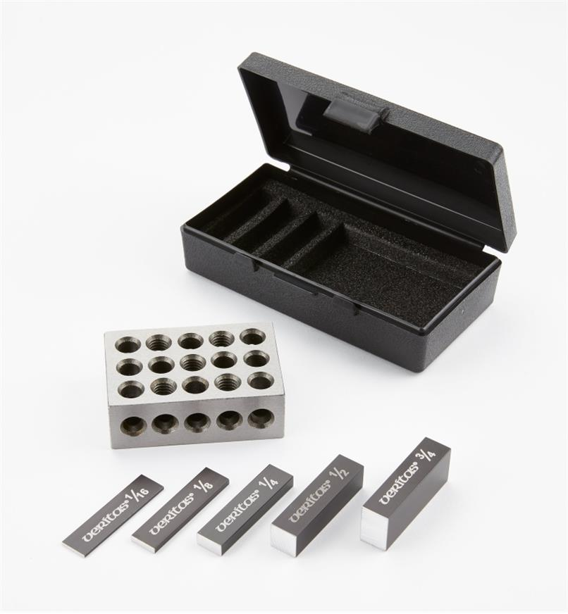 05N5801 - Veritas 6-Piece Set-Up Blocks, Primary Set, Imperial